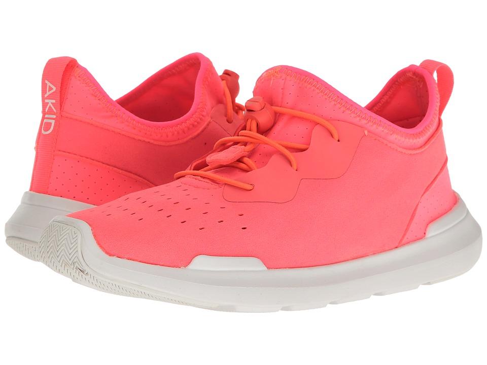 AKID Brand - Sutherland (Toddler/Little Kid/Big Kid) (Neon Coral/White) Girls Shoes