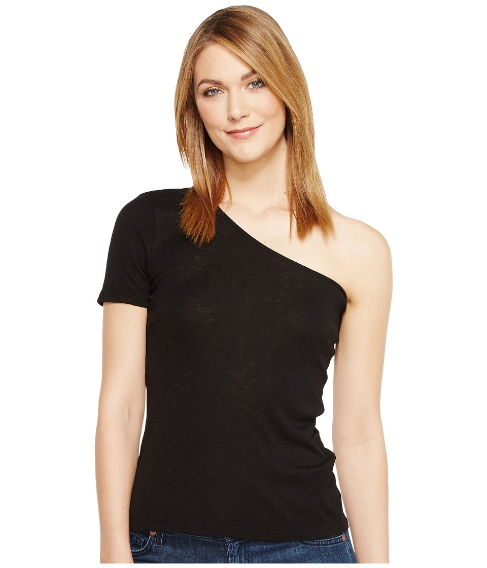 Michael Stars - Slub One Shoulder Tee (Black) Women's T Shirt