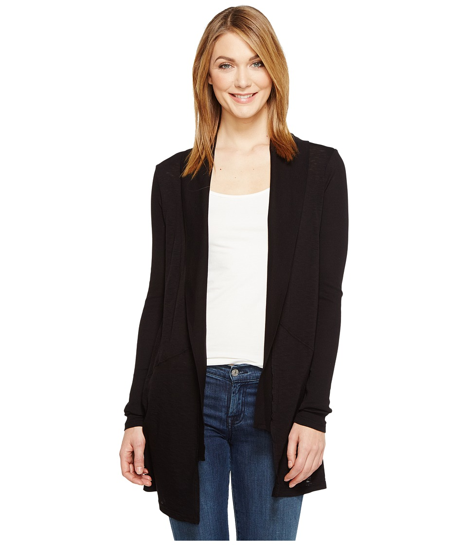 Michael Stars - Supima Cotton Slub Shawl Collar Cardigan (Black) Women's Sweater