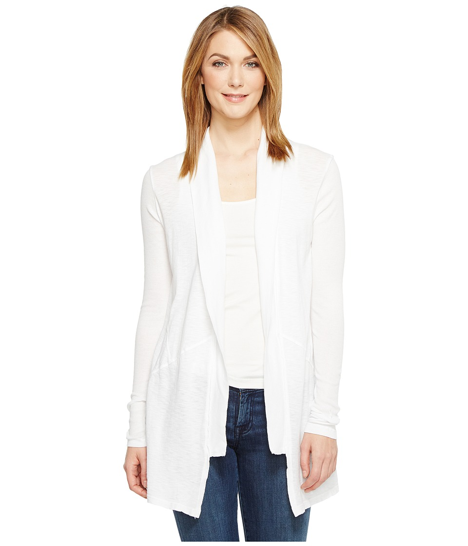 Michael Stars - Supima Cotton Slub Shawl Collar Cardigan (White) Women's Sweater
