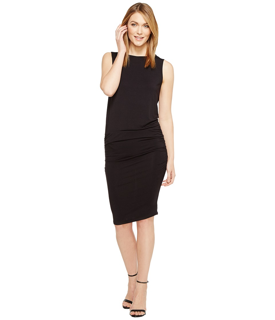 Michael Stars - Sleeveless Dress with Shirring (Black) Women's Dress