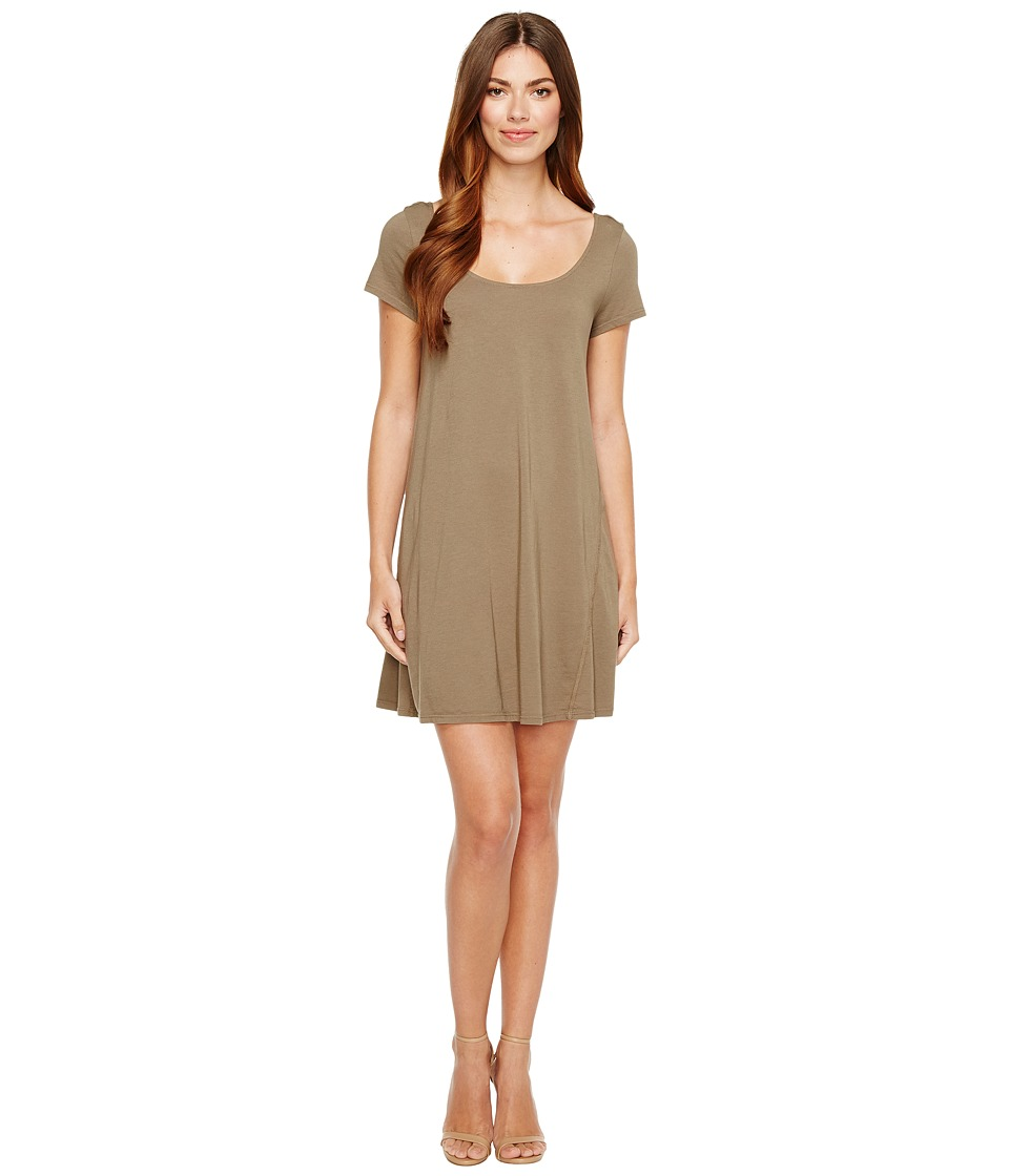 Michael Stars - Scoop Neck Mini Dress (Olive Moss) Women's Dress