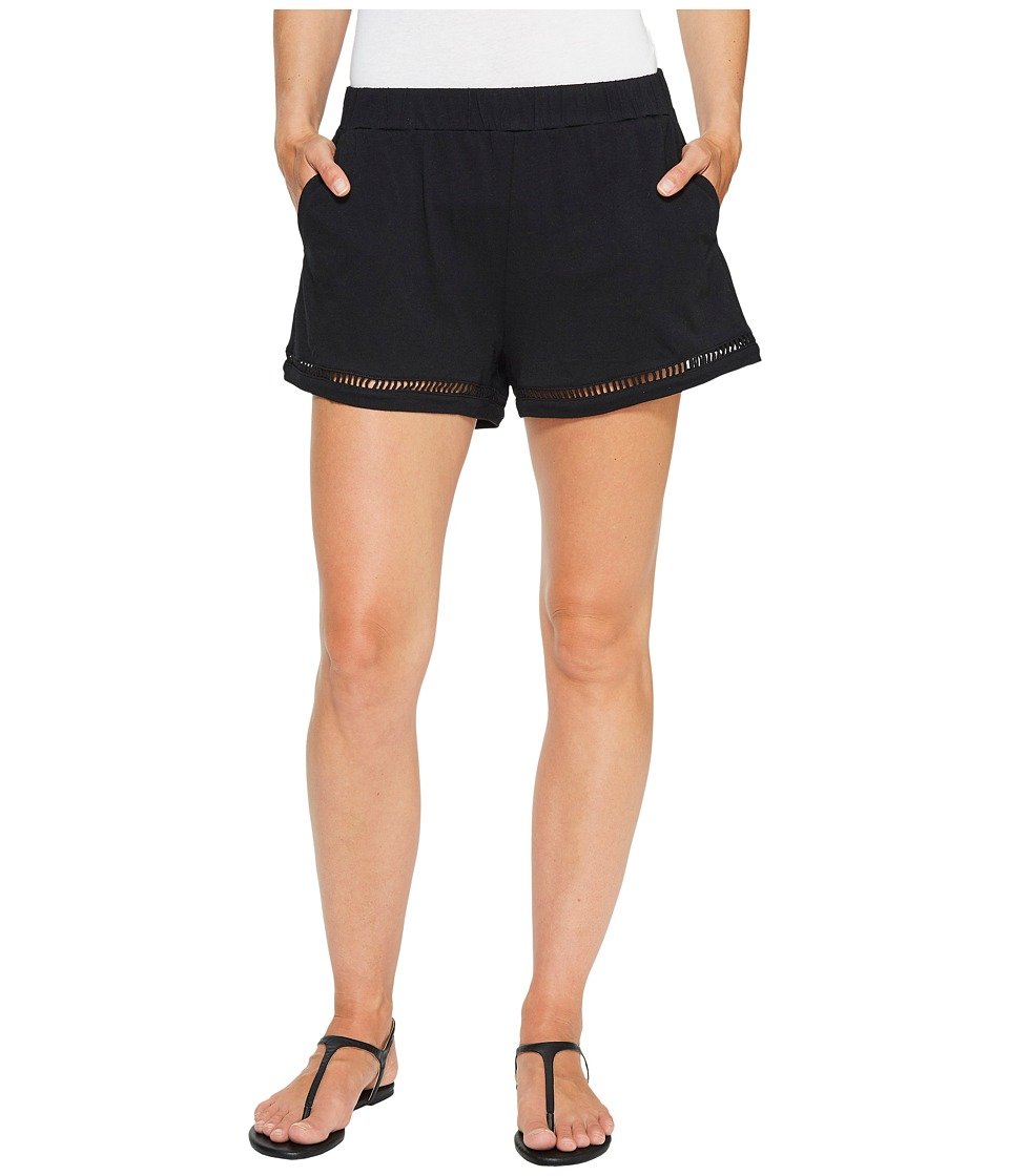 Michael Stars - Shorts with Ladder Trim (Black) Women's Shorts
