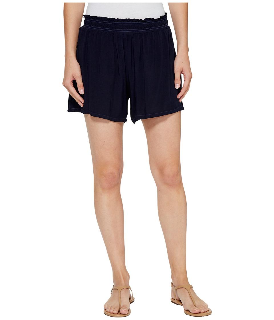 Michael Stars - Modern Rayon Elastic Waistband Shorts (Nocturnal) Women's Shorts
