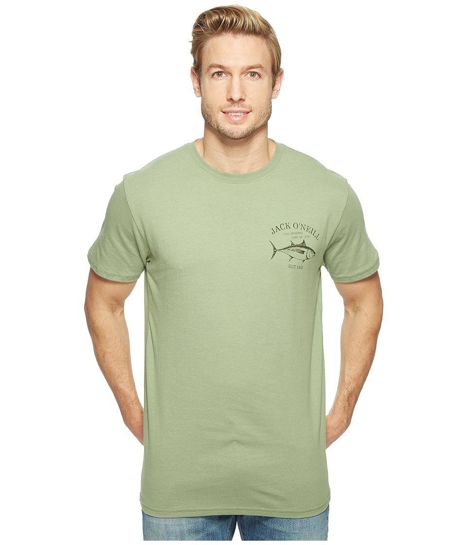 Jack O'Neill - Yellowfin Short Sleeve Tee Screens Imprint (Green) Men's T Shirt