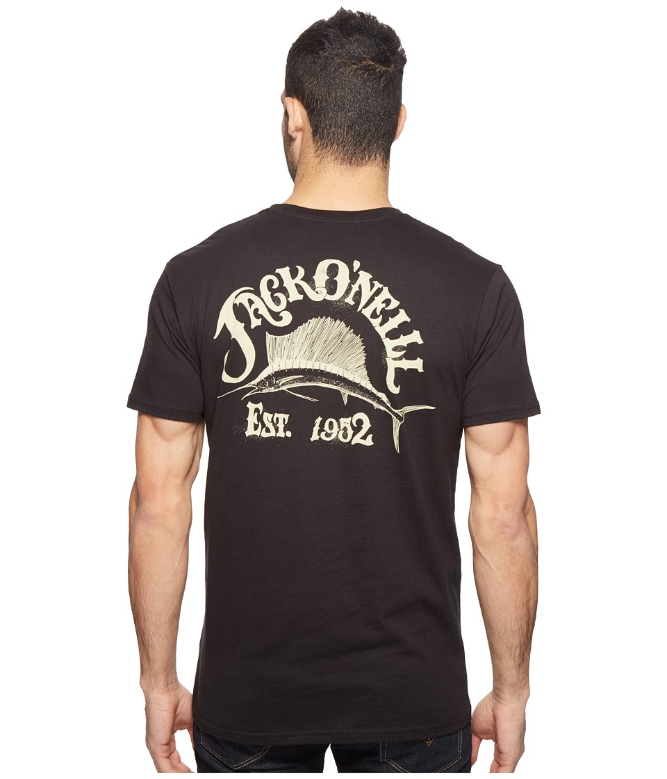 Jack O'Neill - Tackle Short Sleeve Tee Screens Imprint (Black) Men's T Shirt
