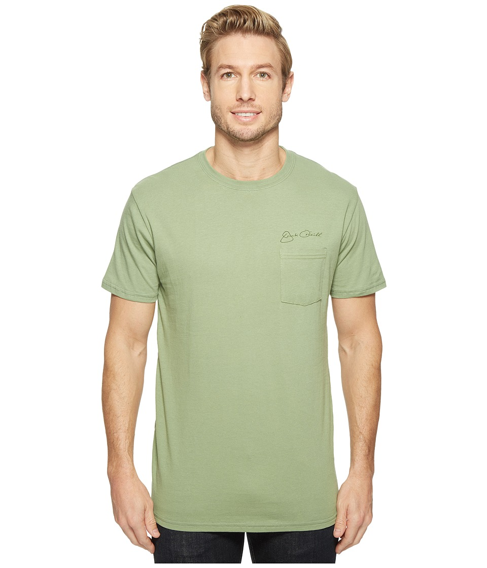 Jack O'Neill - The Man Short Sleeve Tee Screens Imprint (Green) Men's T Shirt