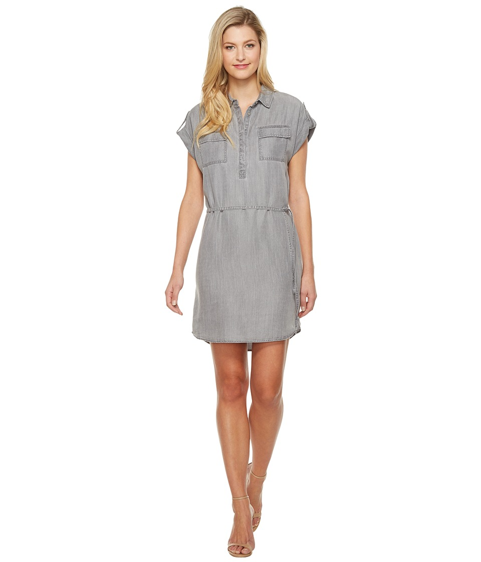 TWO by Vince Camuto - Short Sleeve Tencel Two-Pocket Utility Shirtdress (Grey Skies) Women's Dress