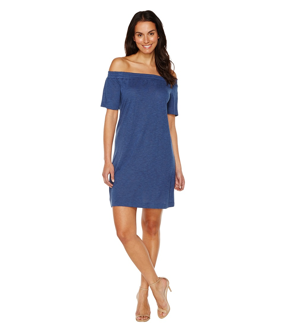TWO by Vince Camuto - Off the Shoulder Easy Knit Dress (Indigo Heather) Women's Dress
