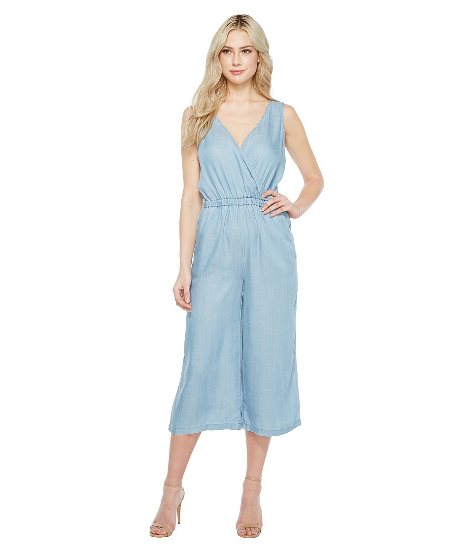 TWO by Vince Camuto - Sleeveless Wrap Top Tencel Cropped Jumpsuit (Vintage) Women's Jumpsuit & Rompers One Piece