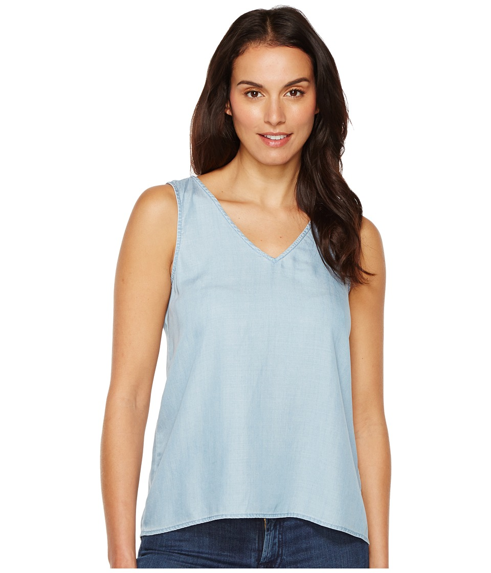TWO by Vince Camuto - Sleeveless Tencel Splitback V-Neck Tank Top (Vintage) Women's Sleeveless