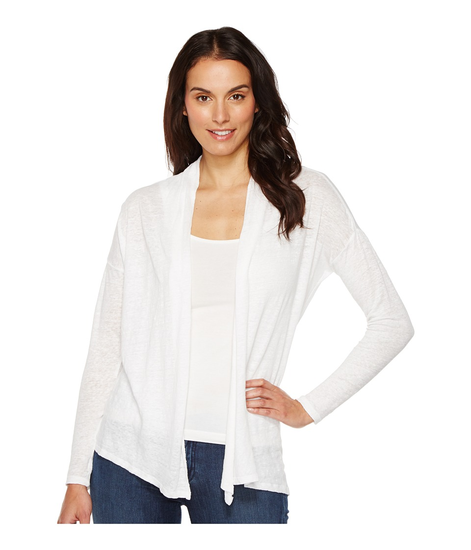TWO by Vince Camuto - Long Sleeve Pigment Dye Drape Front Cardigan (Ultra White) Women's Sweater