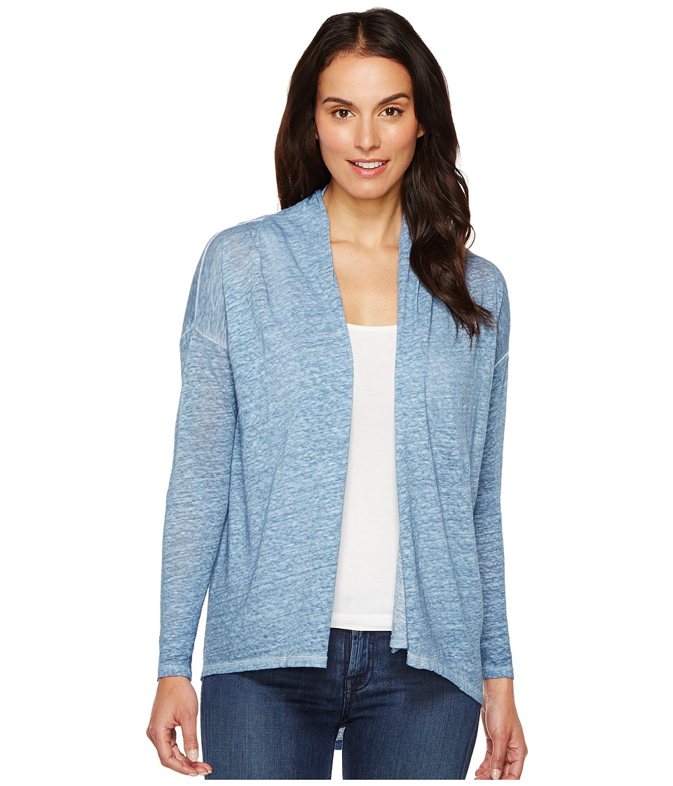TWO by Vince Camuto - Long Sleeve Pigment Dye Drape Front Cardigan (Night Dive) Women's Sweater