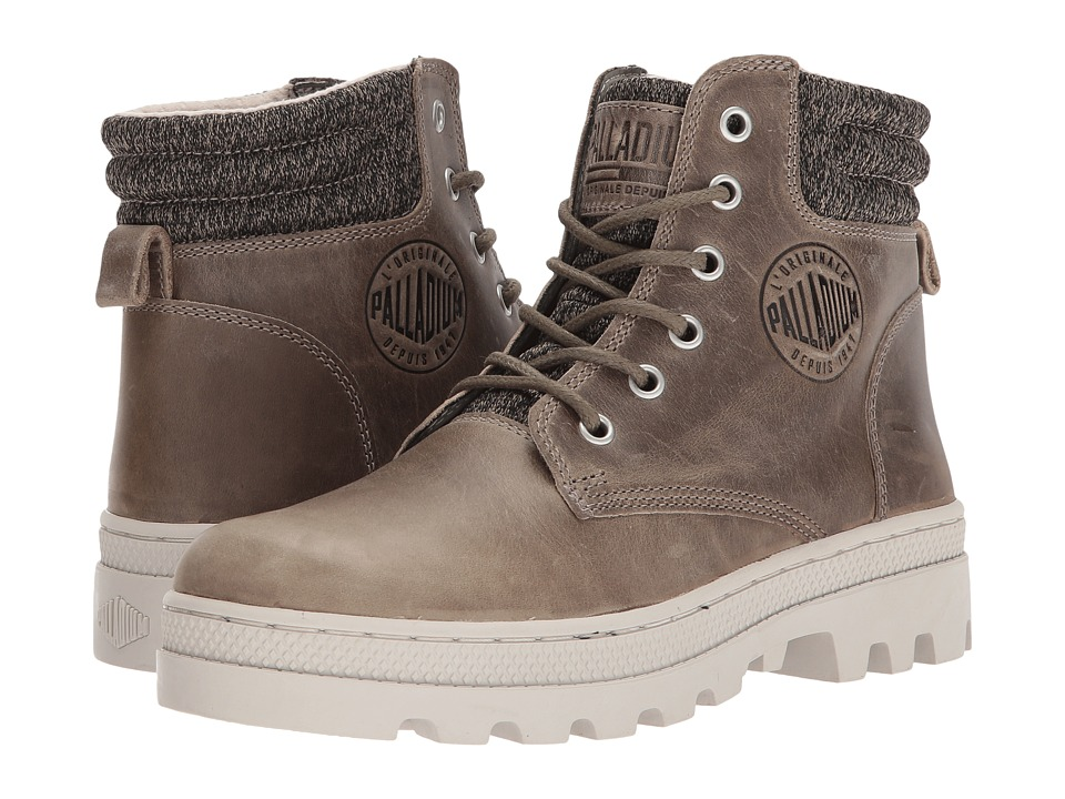 Palladium Pallabosse Hi Cuff L (Fallen Rock/Rainy Day) Women