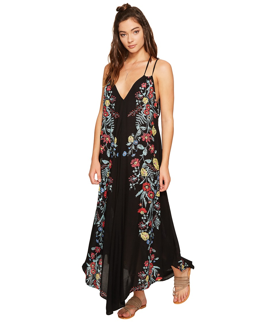 Free People - Ashbury Printed Slip Dress (Black Combo) Women's Dress