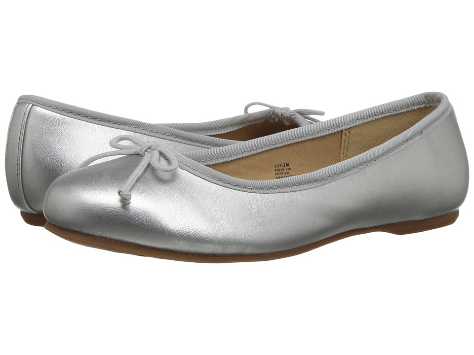 Hanna Andersson Patrika (Toddler/Little Kid/Big Kid) (Silver) Girls Shoes