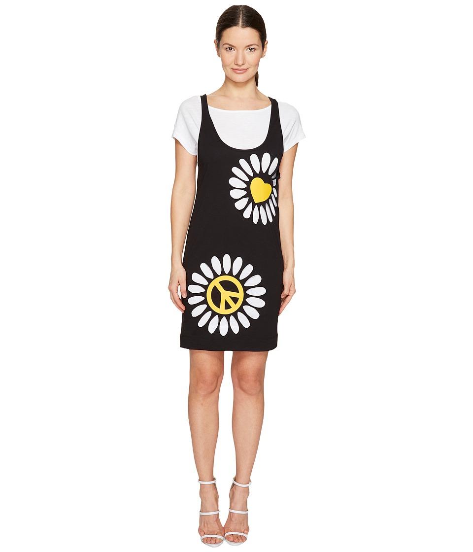 LOVE Moschino - Double Layer Tank Dress (Black) Women's Dress