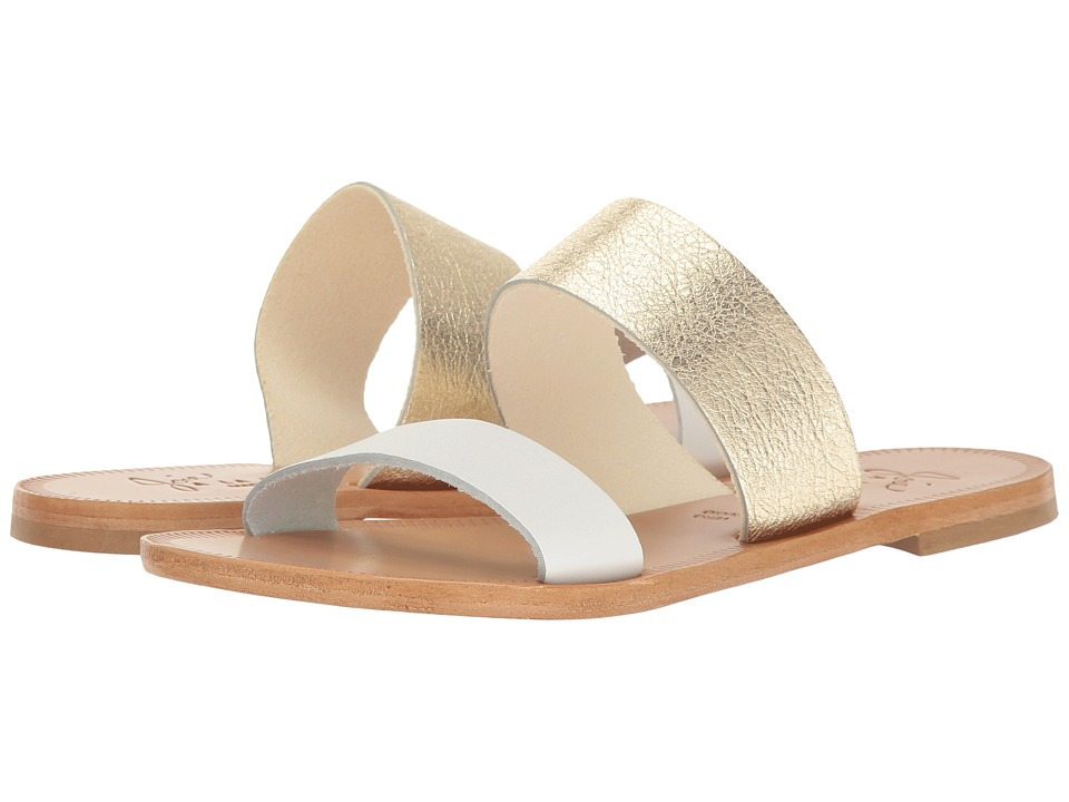 Joie - Sadie (Bianco Vachetta/Light Gold Crackle Metallic) Women's Sandals