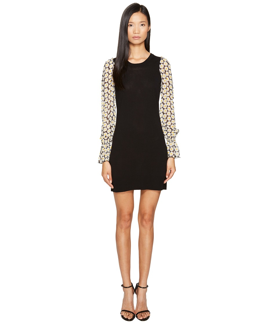 LOVE Moschino Daisy Sleeve Knit Dress (Black) Women