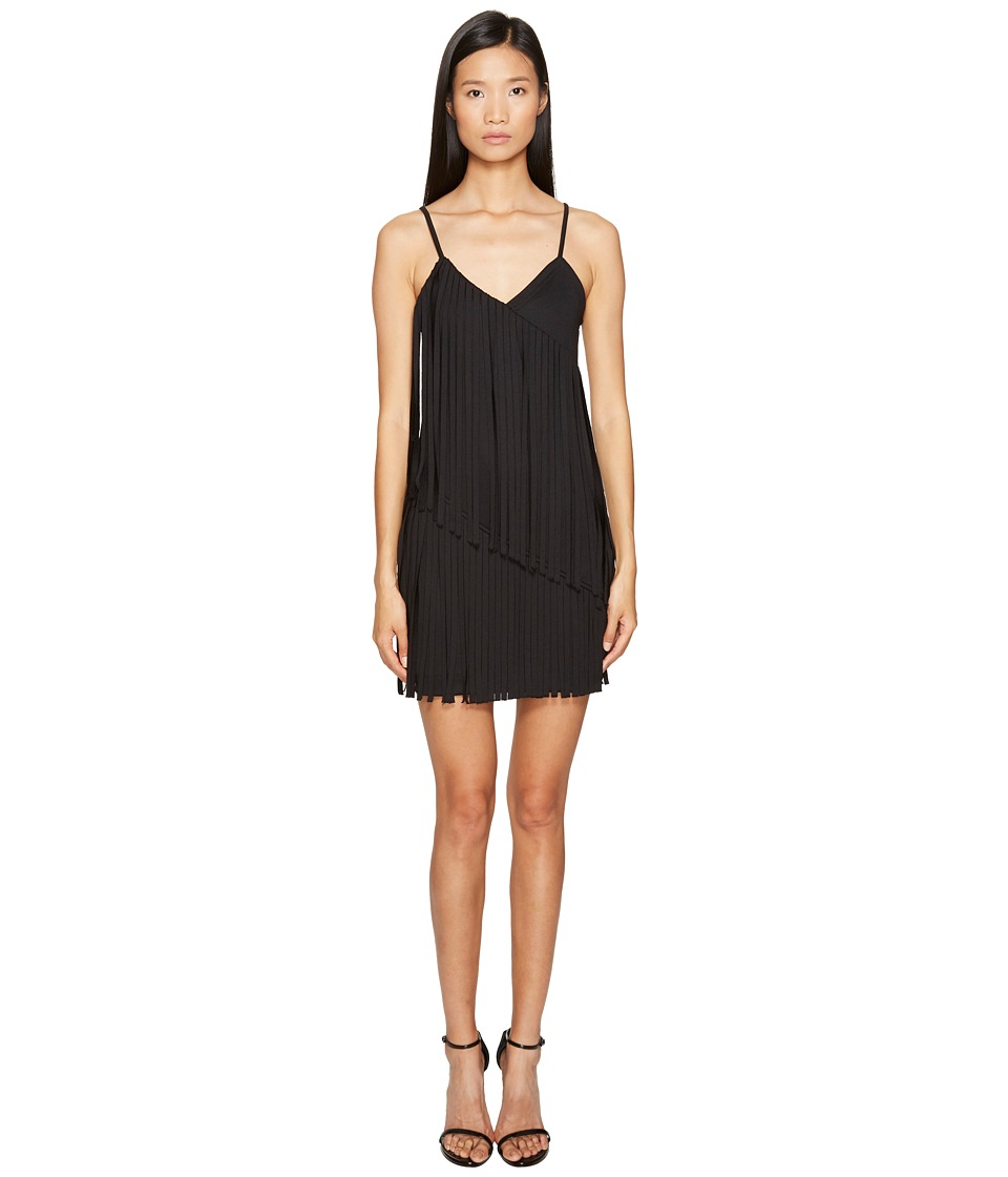 LOVE Moschino - Fringe Dress (Black) Women's Dress