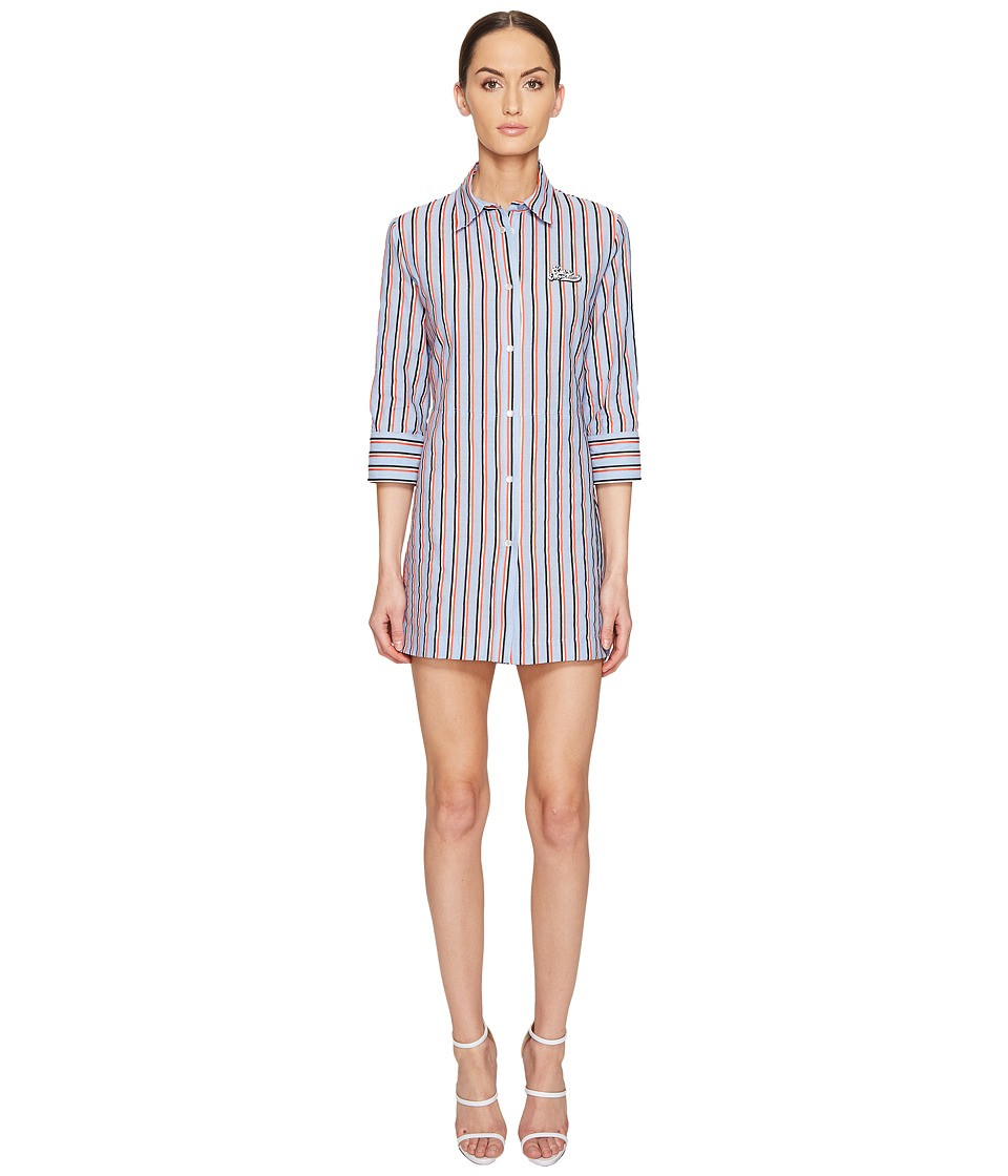 LOVE Moschino - Striped Shirtdress (Red/White/Blue) Women's Dress