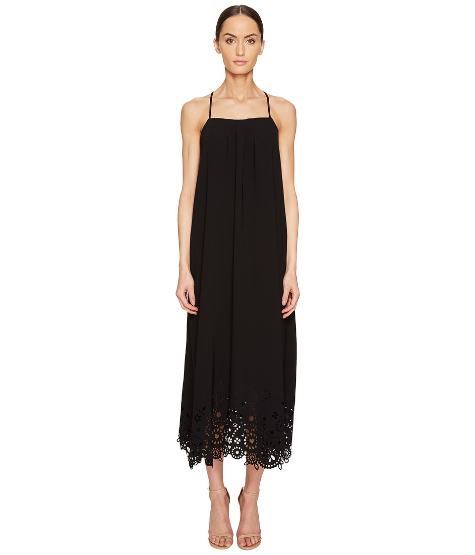 LOVE Moschino - Lazer Cut Maxi Dress (Black) Women's Dress