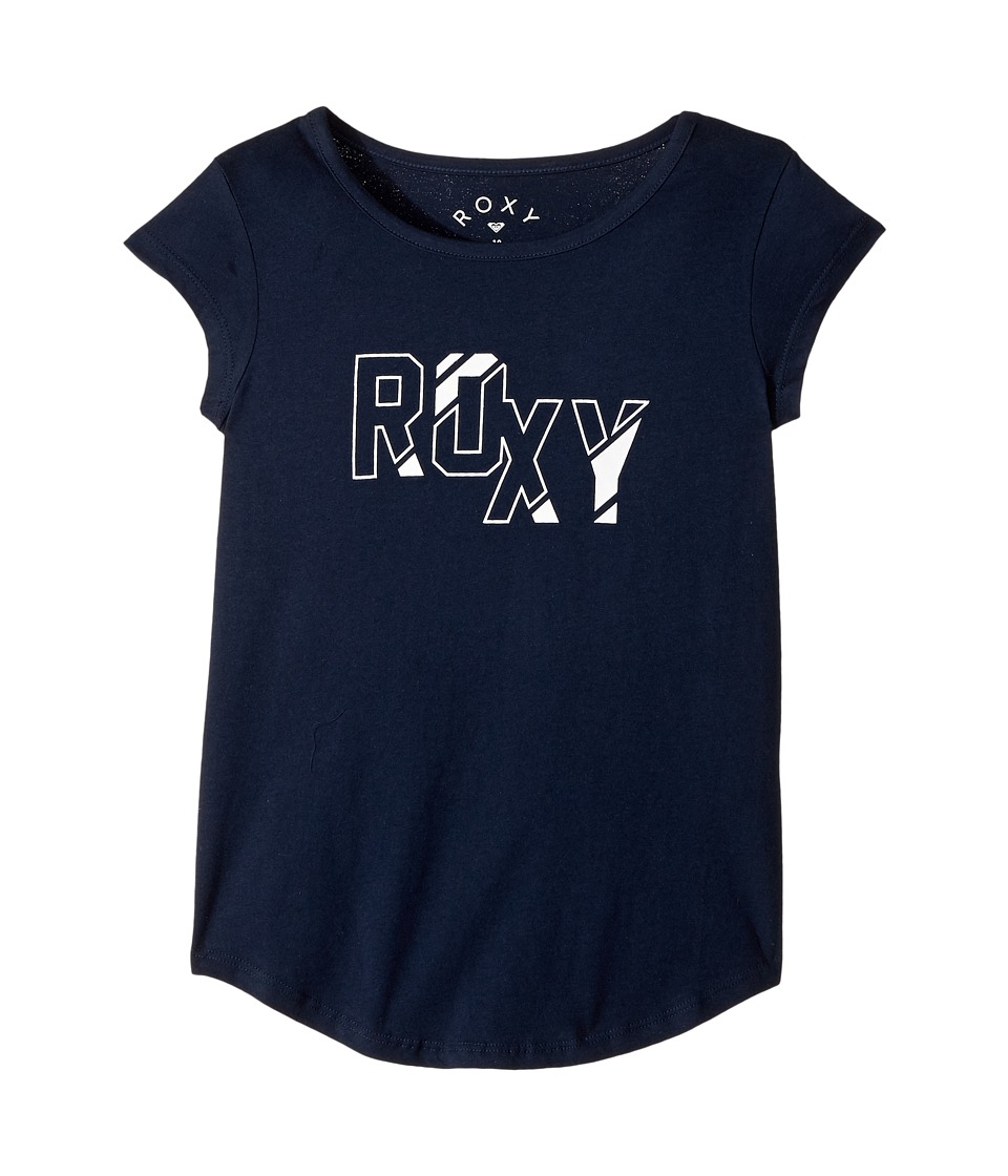 Roxy Kids - Psychic Princess A Tee (Big Kids) (Dress Blues) Girl's Short Sleeve Pullover
