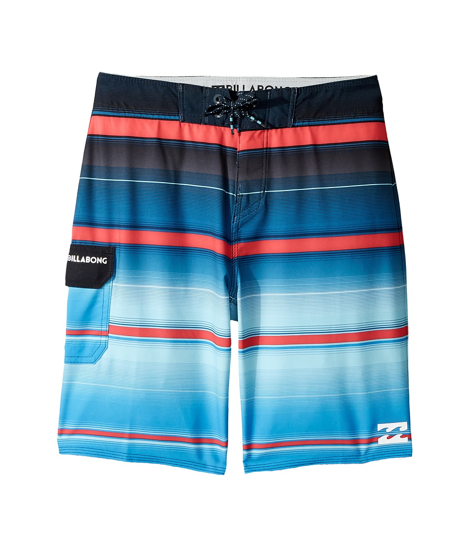 Billabong Kids All Day X Stripe Boardshorts (Big Kids) (Royal) Boy