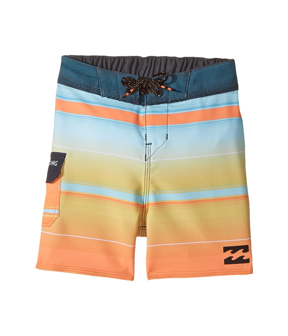 Billabong Kids All Day X Stripe Boardshorts (Toddler/Little Kids) (Tang) Boy