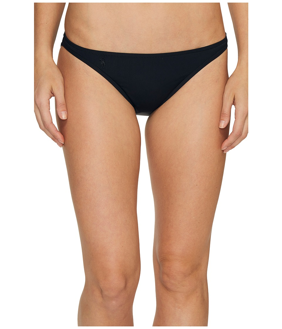 Polo Ralph Lauren - Lasercut Medallion Taylor Hipster Bikini Bottom (Black) Women's Swimwear