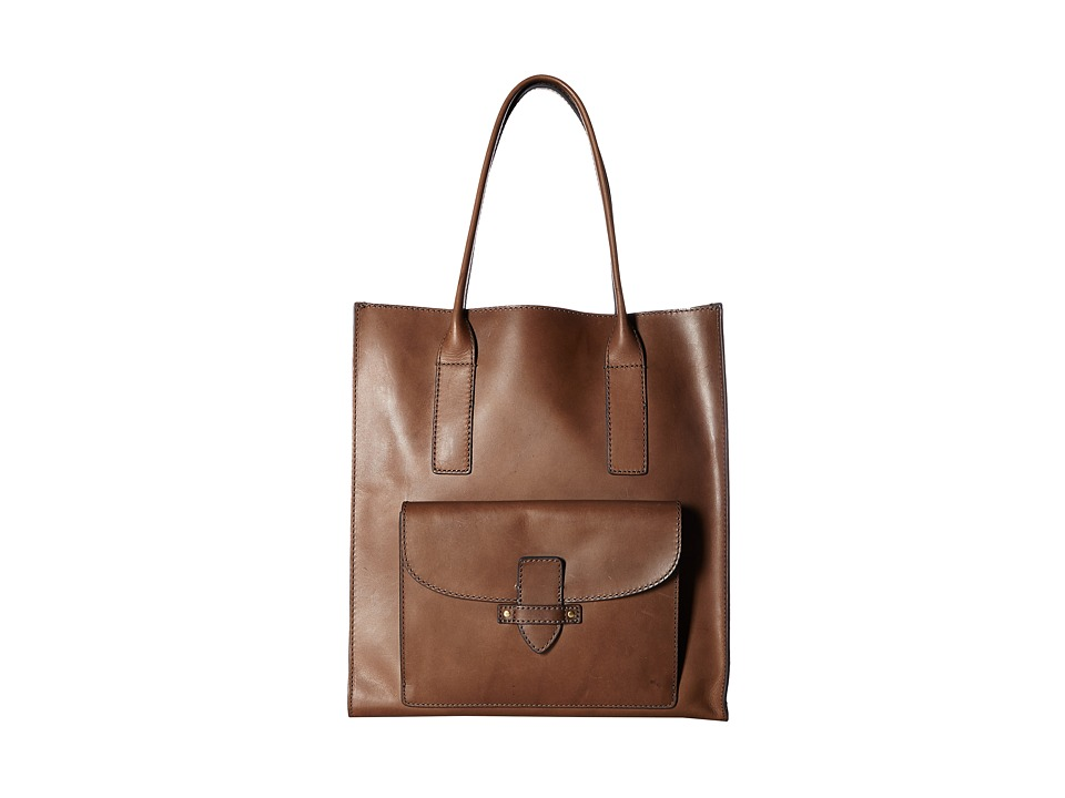 Frye - Casey North/South Tote (Charcoal) Tote Handbags