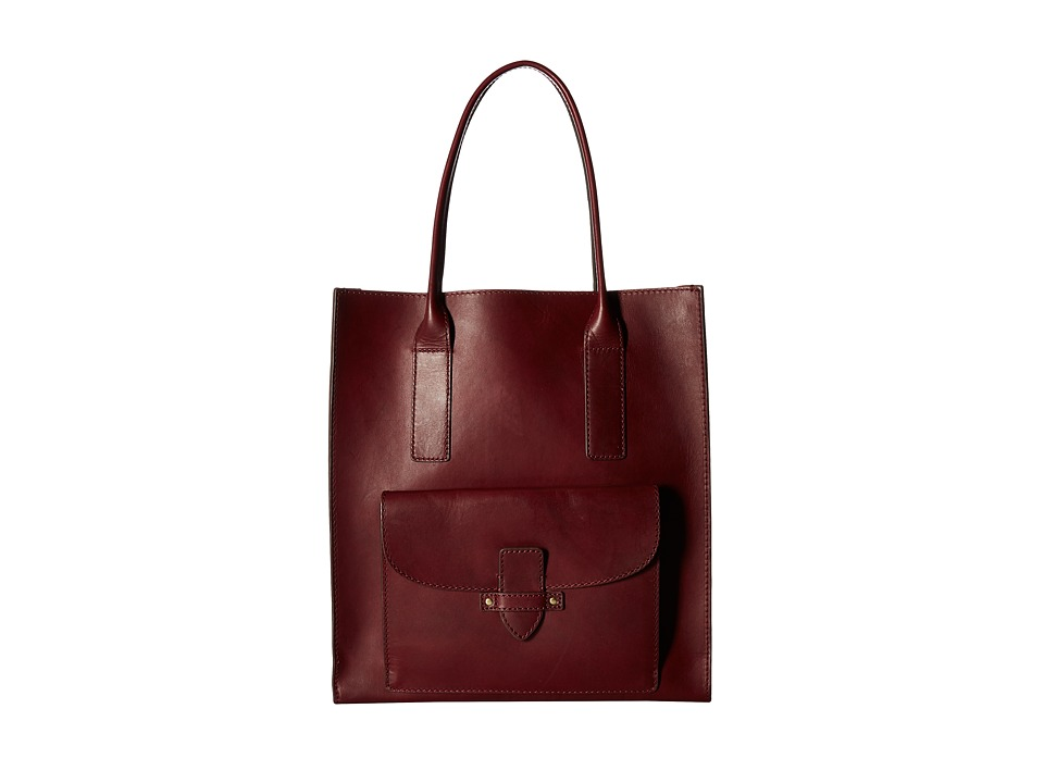 Frye - Casey North/South Tote (Wine) Tote Handbags