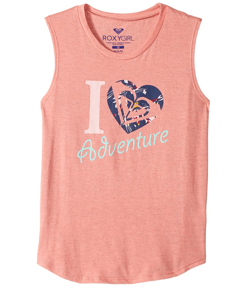 Roxy Kids - Heart Adventure Muscle Tee (Big Kids) (Tea Rose) Girl's Sleeveless