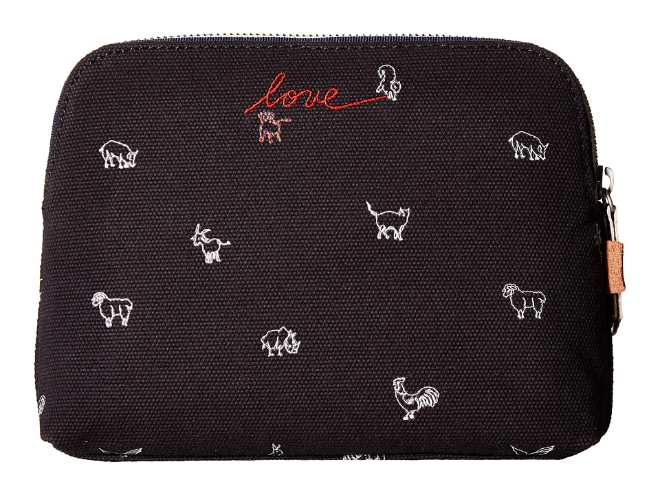 ED Ellen DeGeneres - Darien Medium Pouch (Black Animal) Handbags