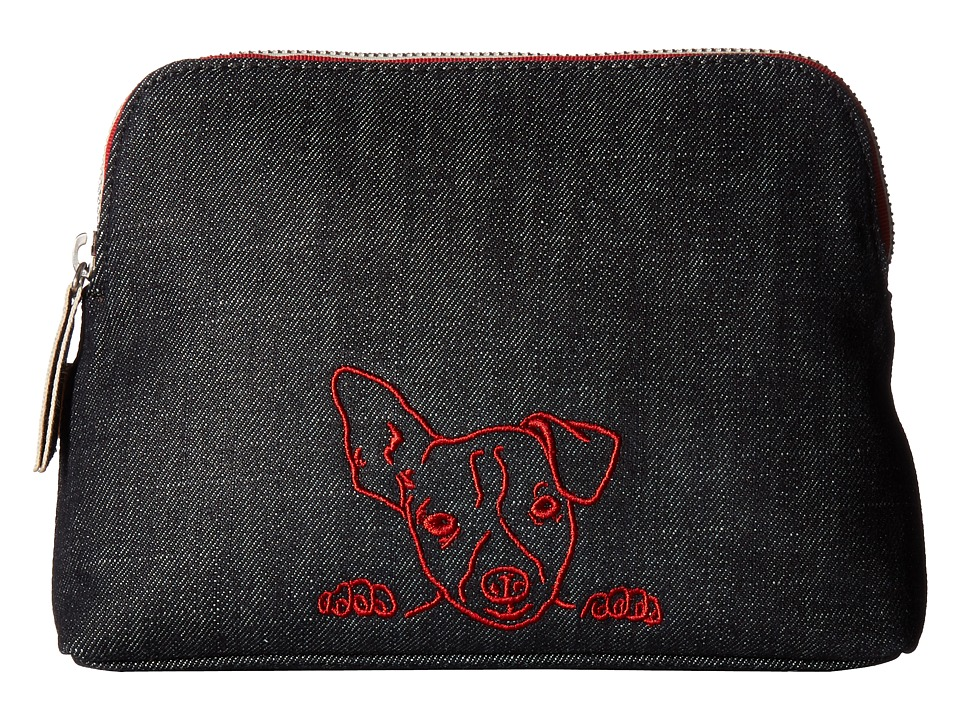 ED Ellen DeGeneres - Darien Medium Pouch (Dark Denim Dog) Handbags