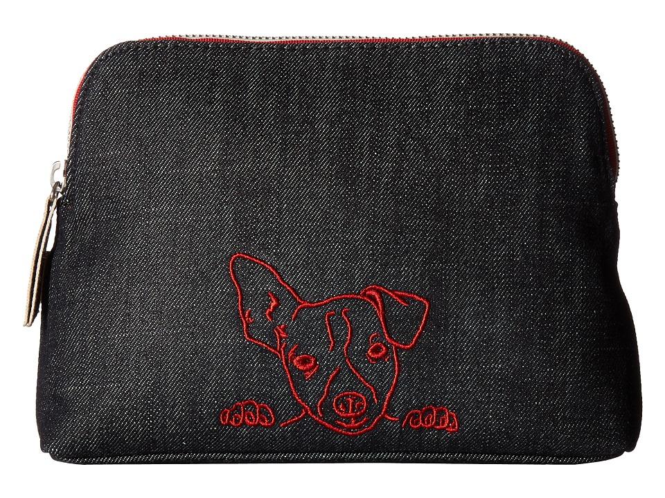 ED Ellen DeGeneres - Darien Medium Pouch (Dark Denim Dog) Handbags