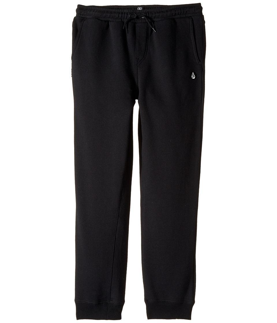 Volcom Kids - Single Stone Fleece Pants (Big Kids) (Black) Boy's Casual Pants