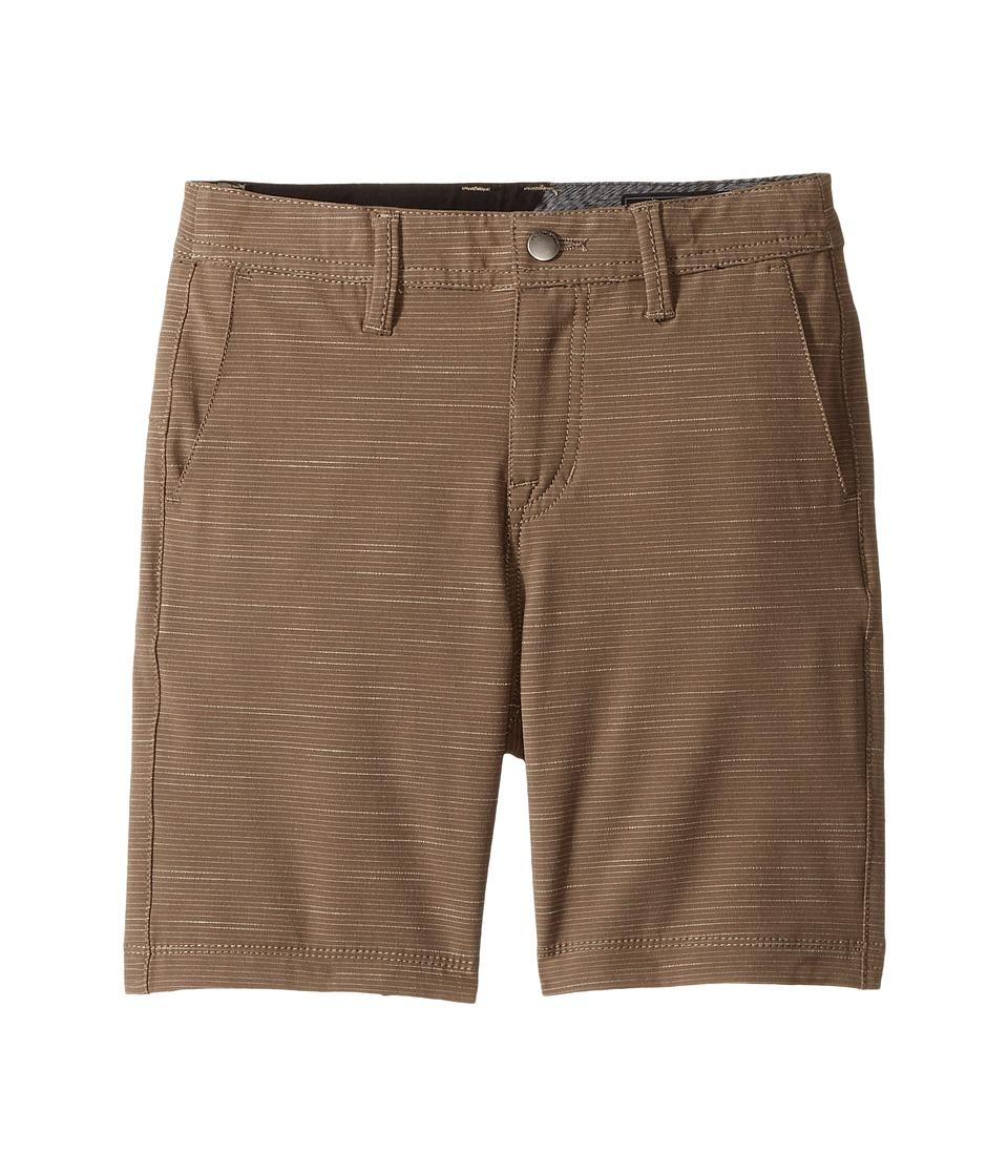 Volcom Kids - Frickin SNT Slub Short (Toddler/Little Kids) (Mushroom) Boy's Shorts