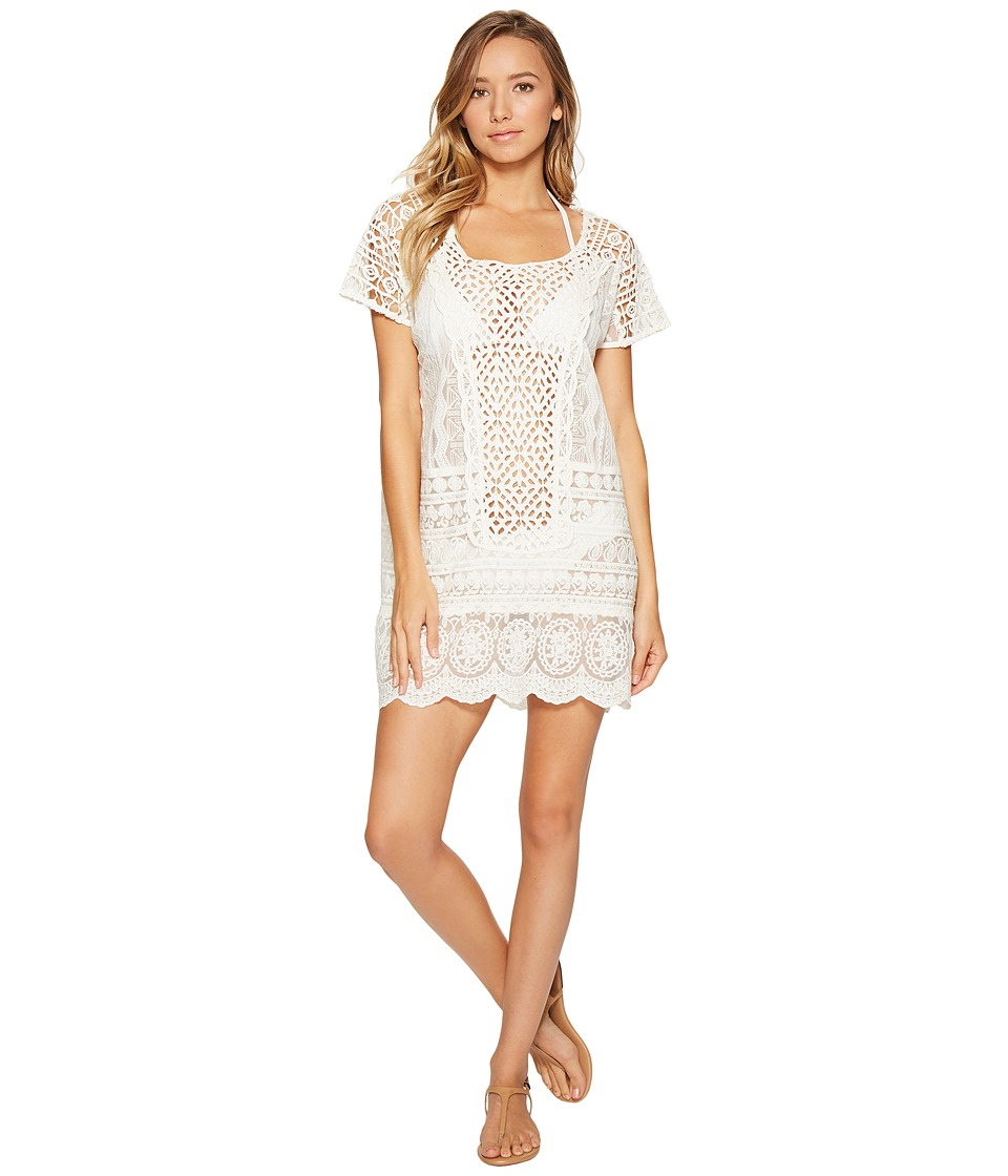 Polo Ralph Lauren - Crocheted Lace Tunic Cover-Up (Ivory) Women's Swimwear