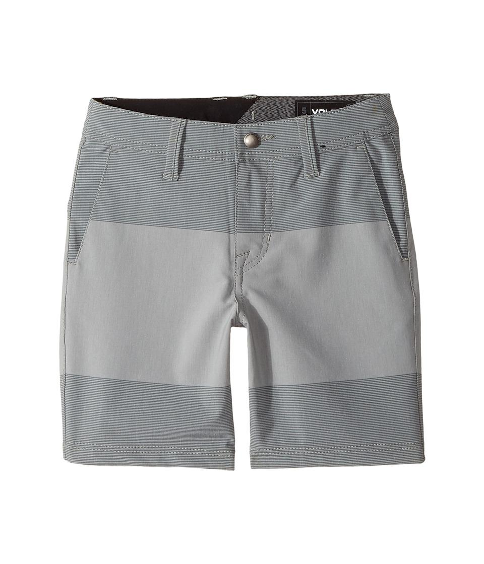 Volcom Kids - Frickin SNT Mix Hybrid Shorts (Toddler/Little Kids) (Pewter) Boy's Shorts