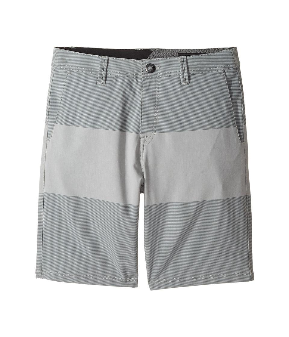 Volcom Kids - Frickin SNT Mix Hybrid Shorts (Big Kids) (Pewter) Boy's Shorts