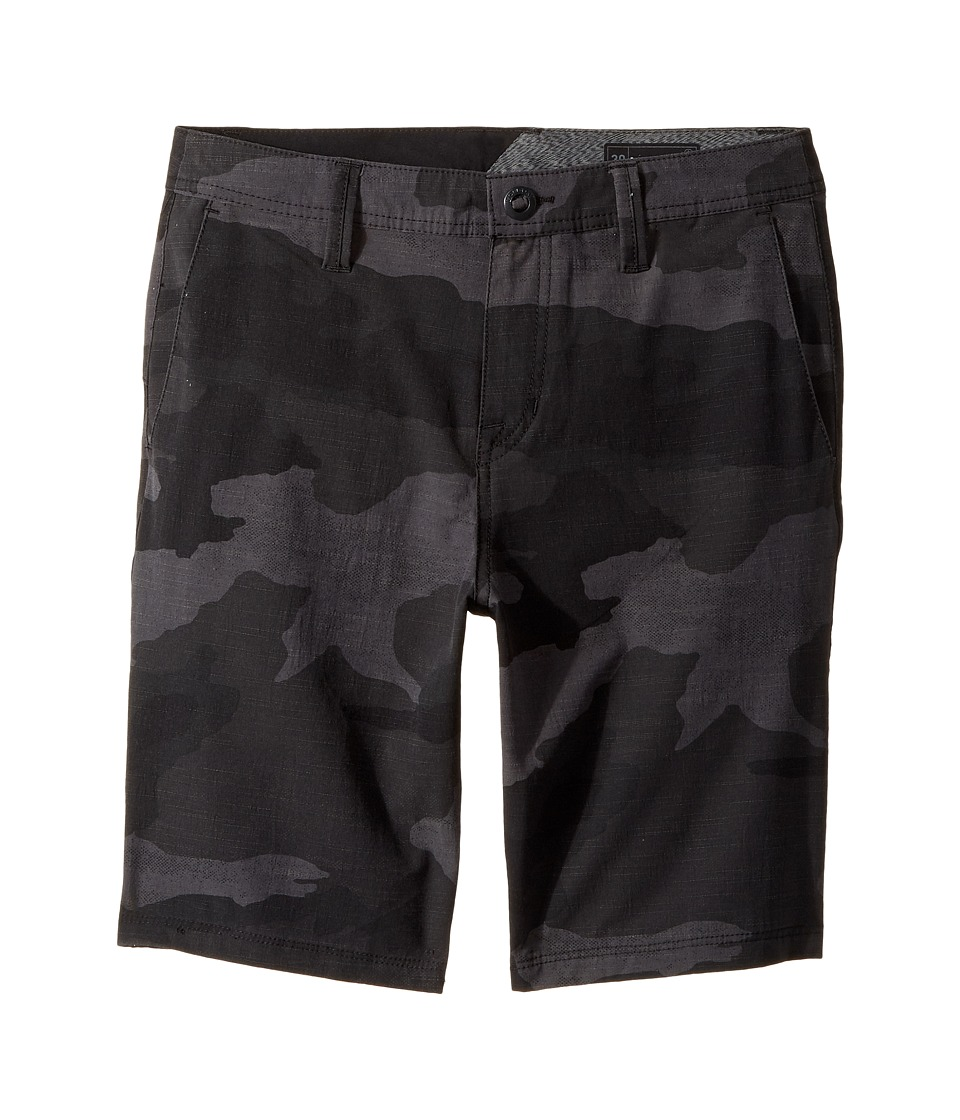 Volcom Kids - Frickin SNT Mix Hybrid Shorts (Big Kids) (Black) Boy's Shorts