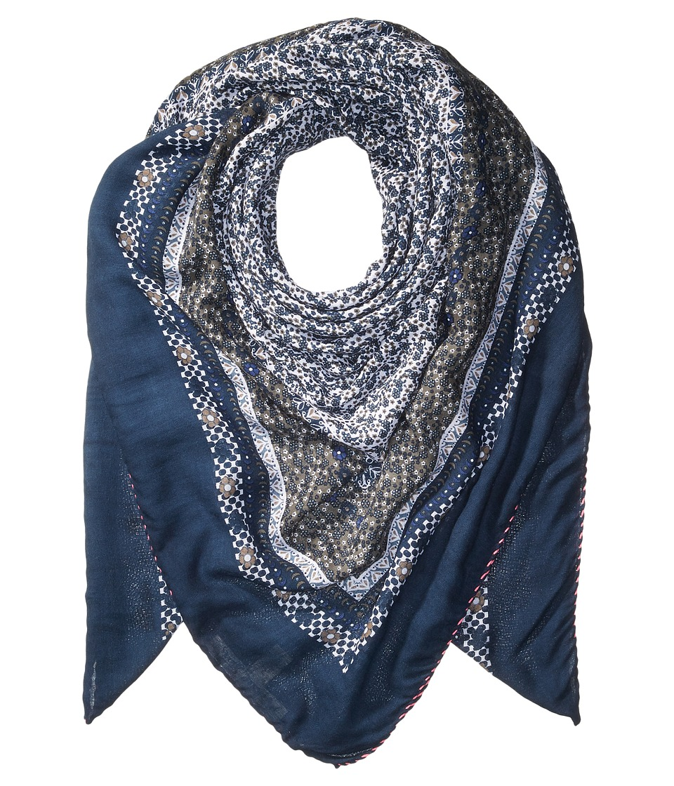 Michael Stars - Little Ditsy Square Scarf (Nocturnal) Scarves