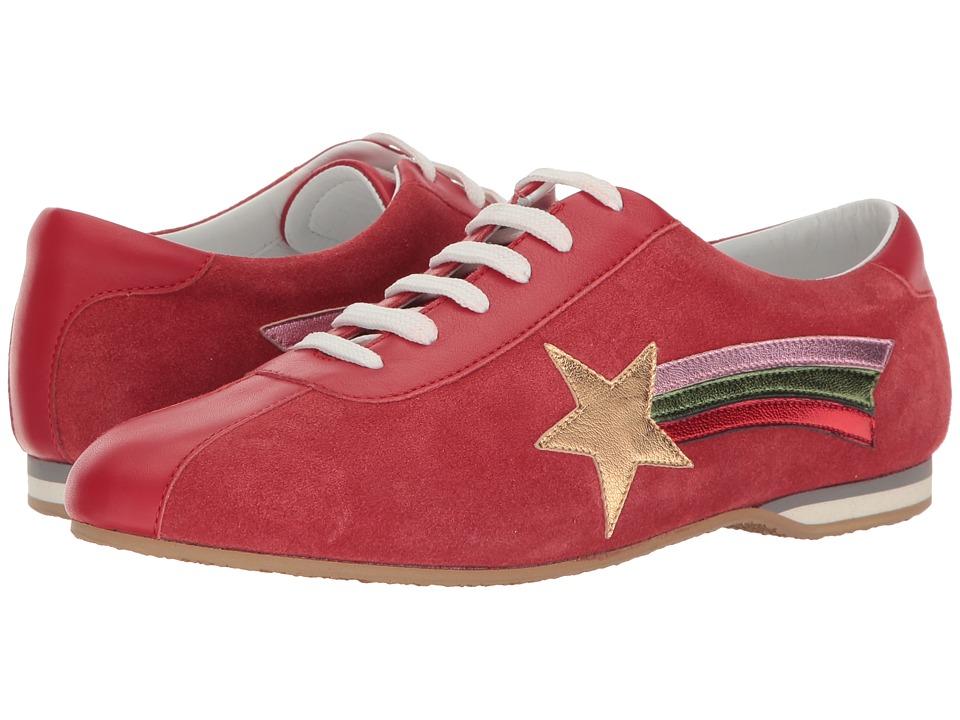Rupert Sanderson - Gavotte (Ferraree Coarse Suede/Multi Metallic Nappa) Women's Shoes