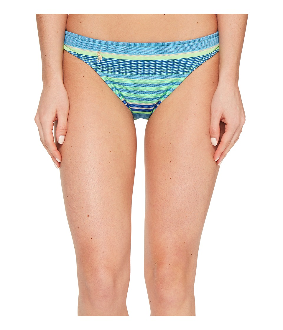Polo Ralph Lauren Playa Stripe Taylor Hipster Bottom (Turquoise) Women