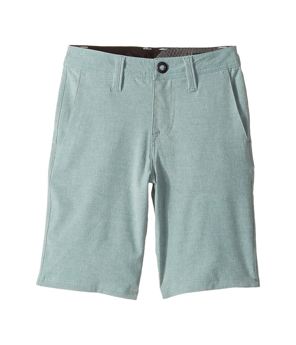 Volcom Kids - Frickin SNT Static Shorts (Big Kids) (Dusty Green) Boy's Shorts