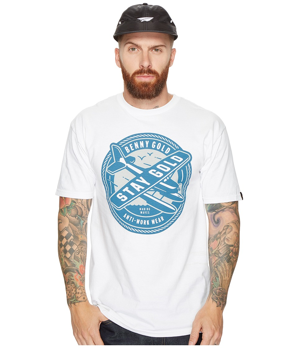 Benny Gold - Sea Plane T-Shirt (White) Men's T Shirt