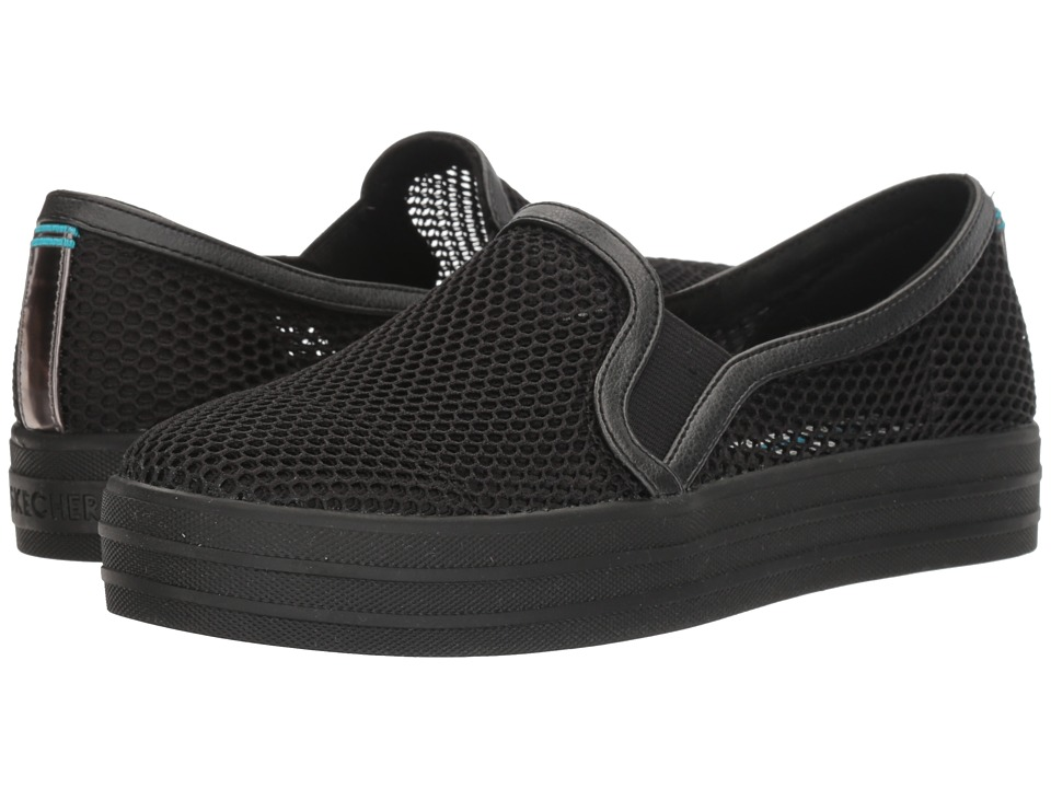 BOBS from SKECHERS - Double Up - Trawls (Black/Black) Women's Shoes