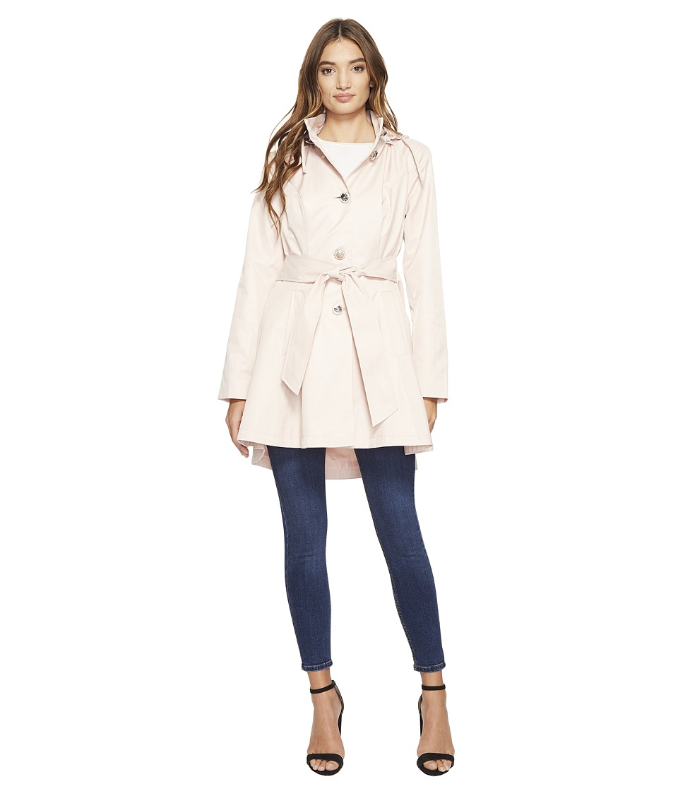Betsey Johnson - Belted Raincoat (Dusty Pink) Women's Coat