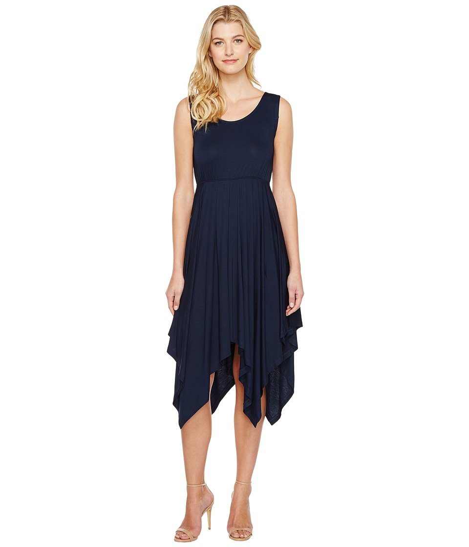 Nally & Millie - Seam Detail Scarf Dress (Navy) Women's Dress
